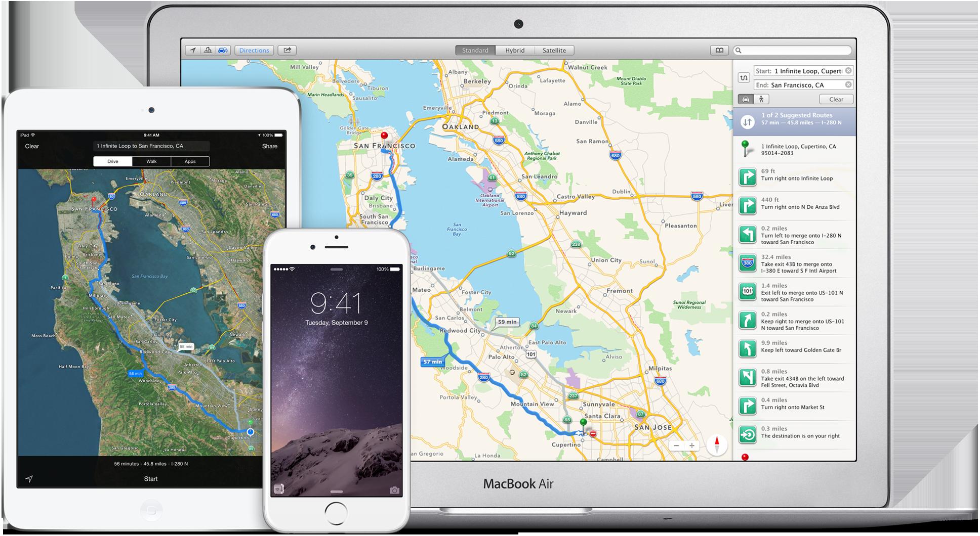 ВApple Maps вскором времени появятся уникальные новшества