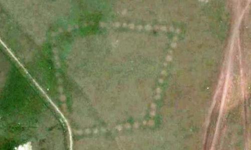 ВКазахстане обнаружили огромную надпись, которую видно только изкосмоса
