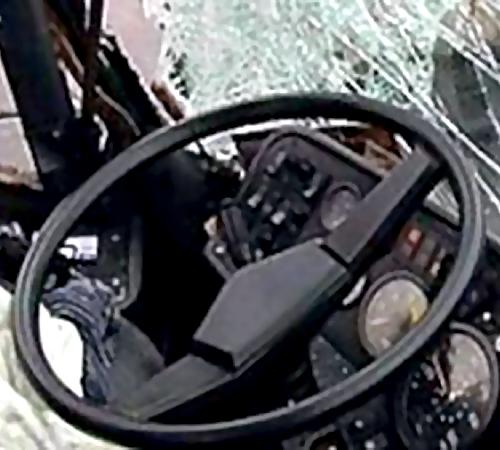 ВПодмосковье хулиганы обстреляли рейсовый автобус изпневматики