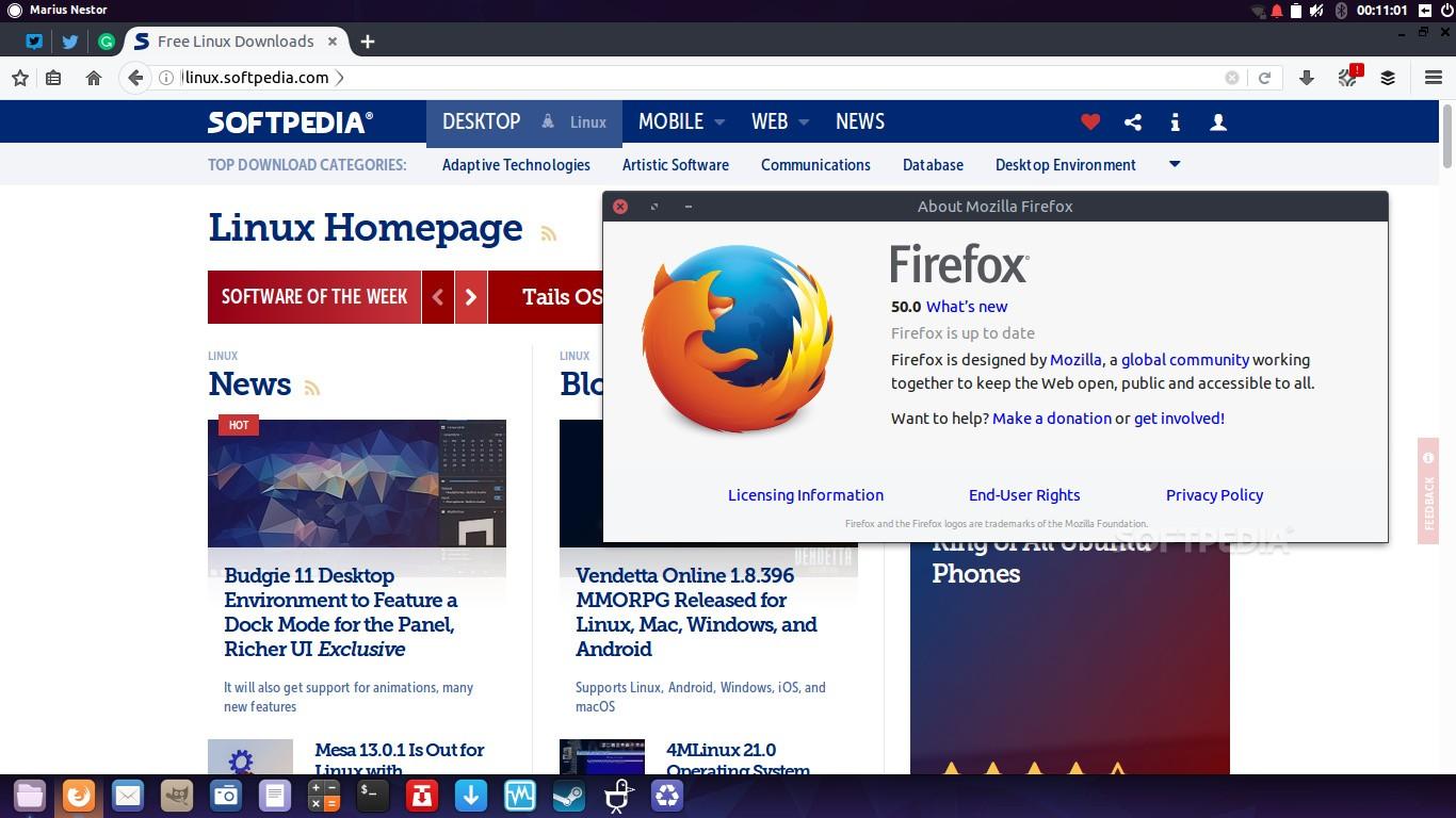 Firefox 50 поднял скорость работы иуровень защиты