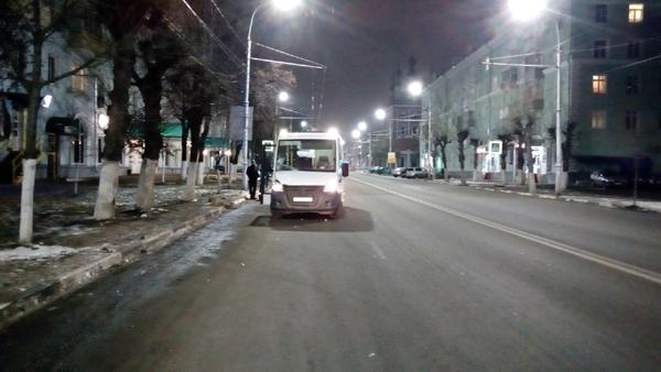 ВРязани наЦиолковского маршрутка сбила пешехода