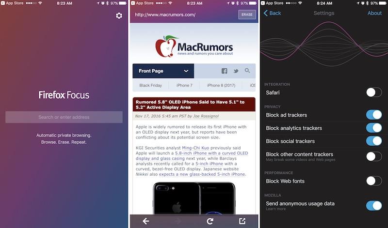 Вышел неопасный браузер для iOS отMozilla