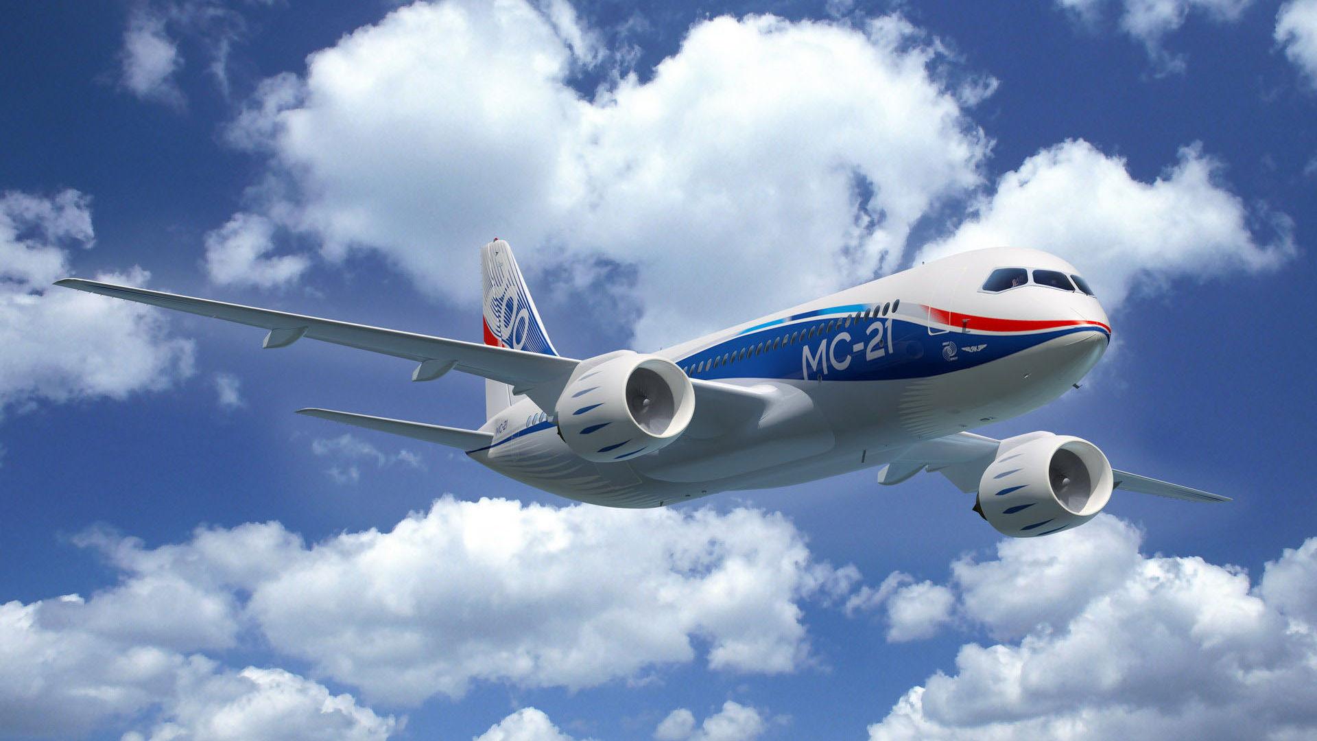 Прототип русского самолета МС-21 проходит тестирования