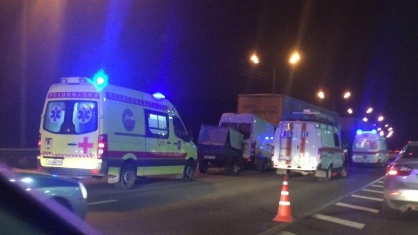 ВМосковской области столкнулись автобус имаршрутка, есть пострадавшие
