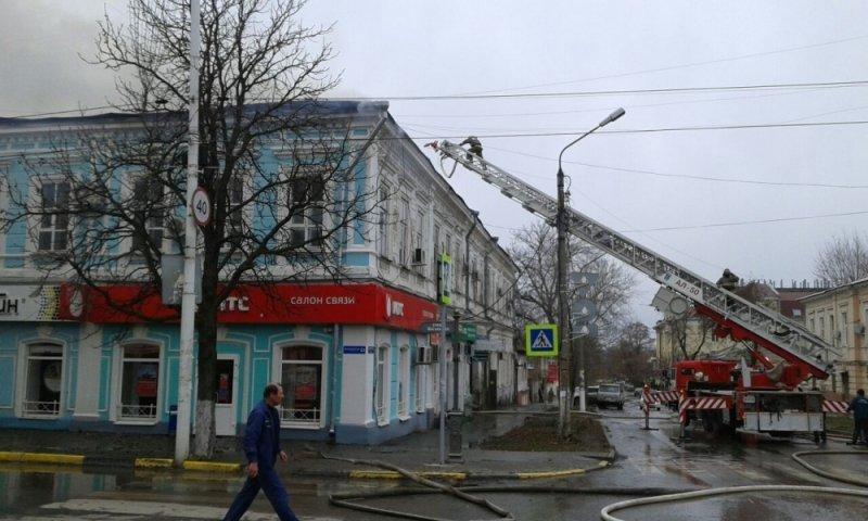 ВНовочеркасске полыхает строение больницы №1