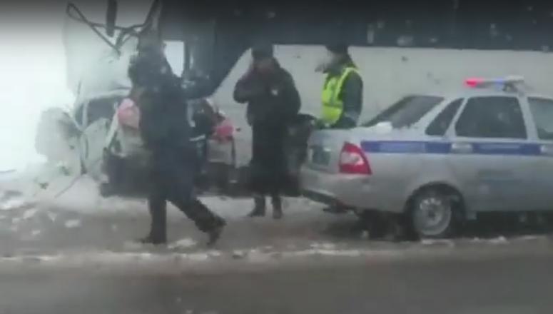 Три человека погибли вДТП легковушки савтобусом вДинском районе
