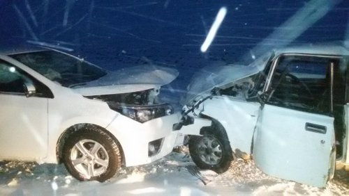ВБелгородской области встолкновении 2-х авто пострадали два ребенка
