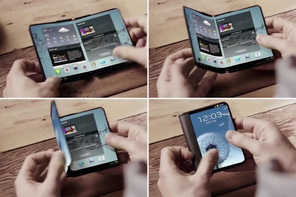Самсунг собирается выпустить 1-ый складной смартфон в 2017г