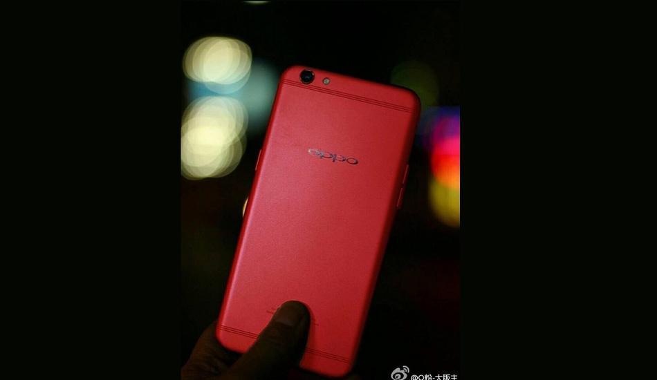 Красный Oppo R9S засветился винтернете