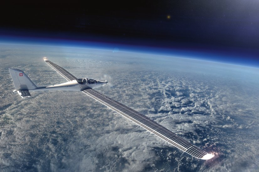 Спроектирован самолет насолнечных батареях, который сумеет летать вкосмос