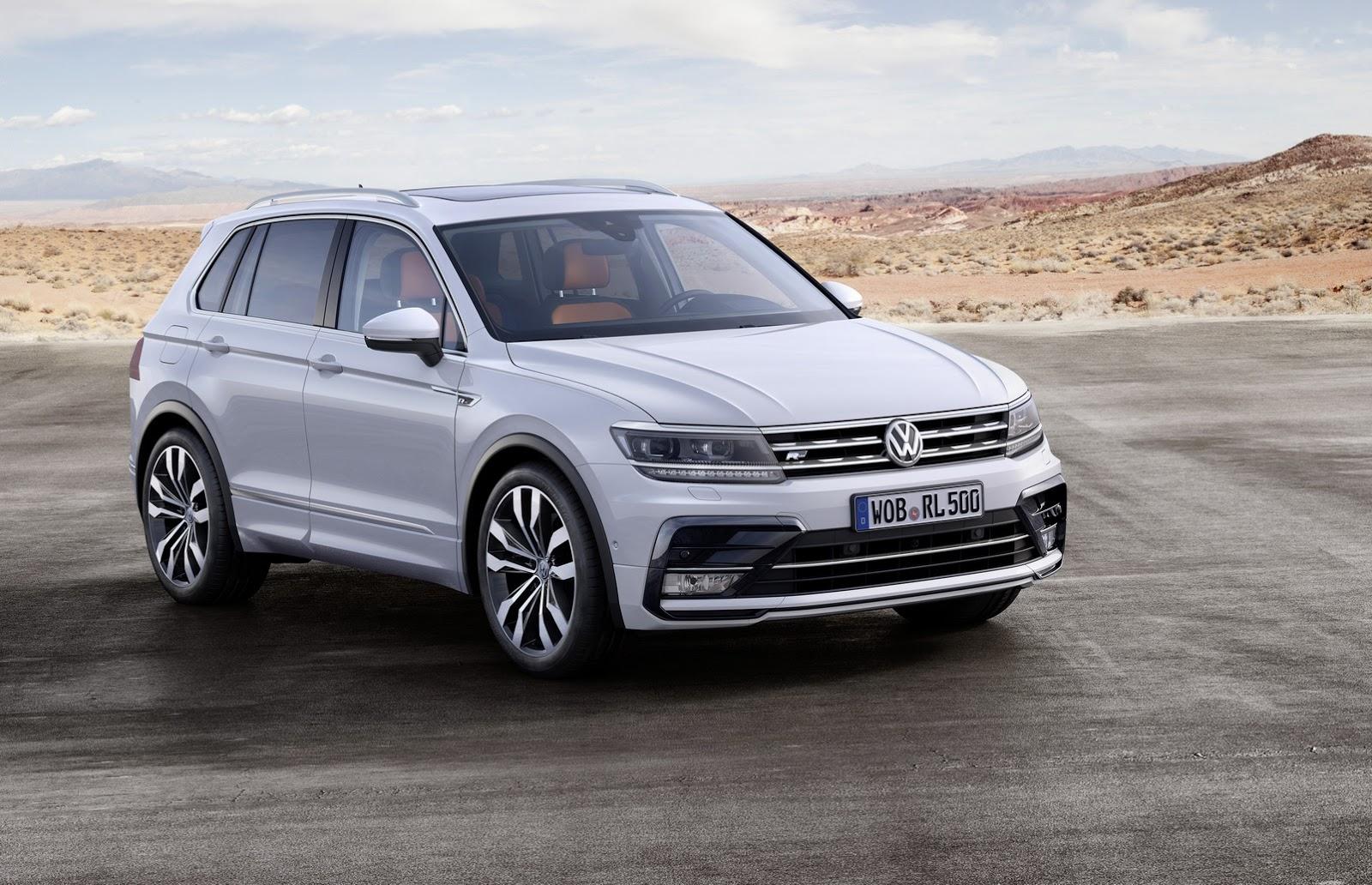 Компания VW назвала русские цены нановый кроссовер Tiguan