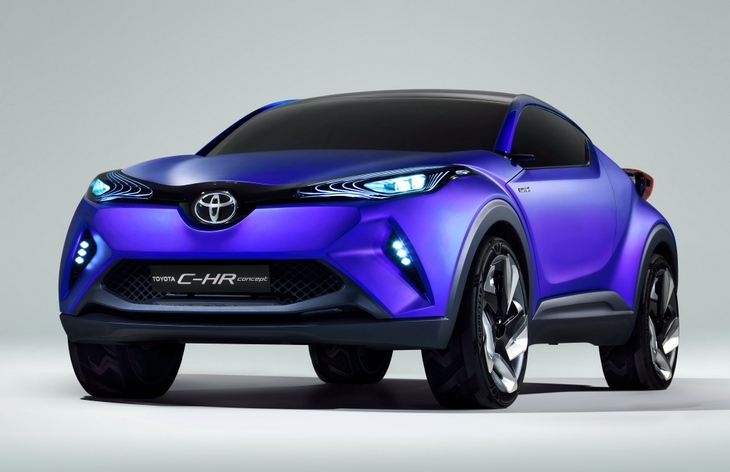 Toyota представит серийную версию C-HR на автосалоне в Детройте