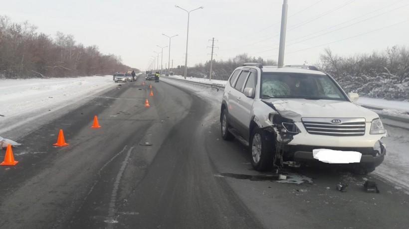 ДТП под Оренбургом: шофёр насмерть сбил 34-летнюю женщину-пешехода