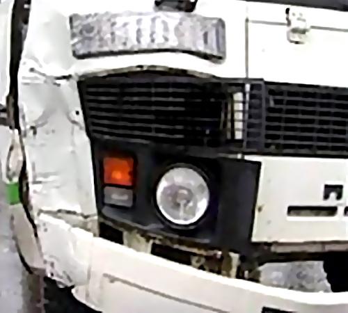Два пассажирских автобуса столкнулись вБарнауле