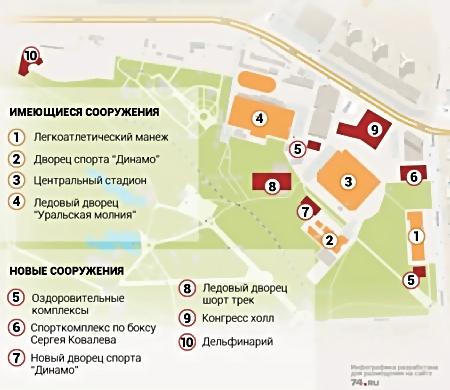 Вчелябинском ПКиО им.Гагарина появится новый дворец спорта