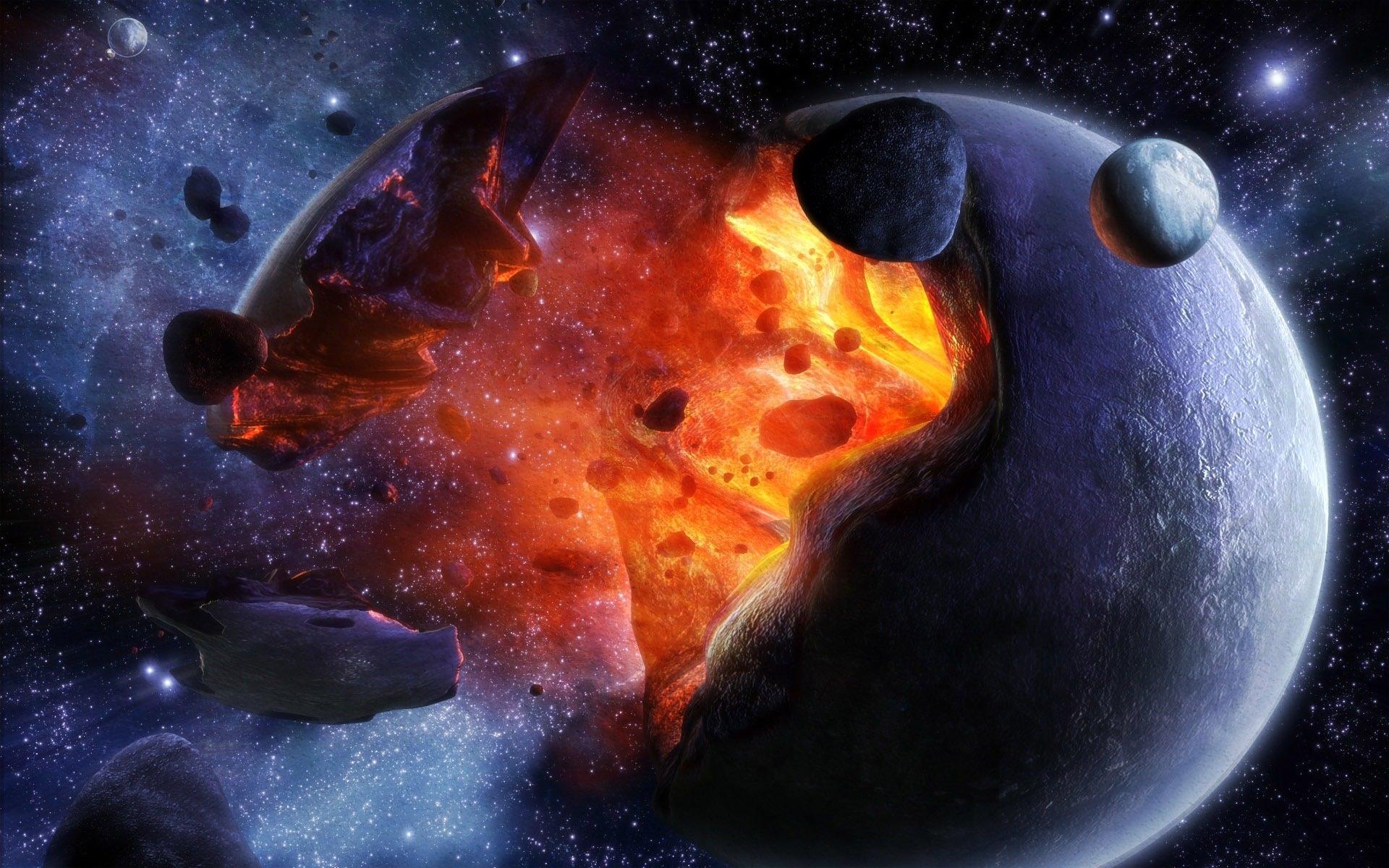 Обои Взрывы на планетах картинки на рабочий стол на тему Космос - скачать бесплатно
